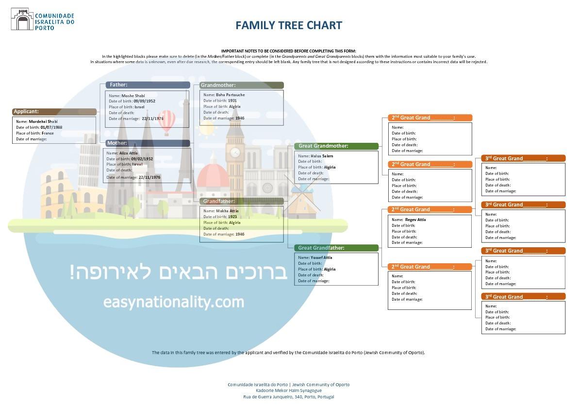 עץ משפחתי קהילה יהודית